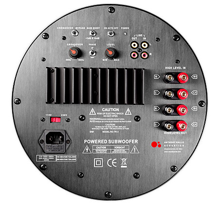 Gallo Acoustics TR-3D rear