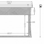 7ft tab-tensioned Screen Dimensions
