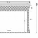 9ft tab-tensioned Screen Dimensions