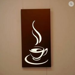 Coffee illuminated wall panel