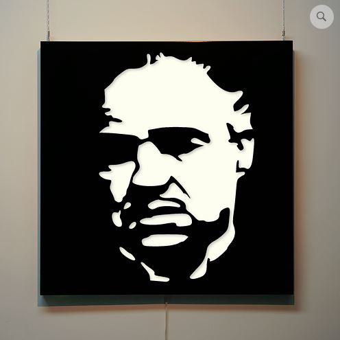 Godfather illuminated wall panel