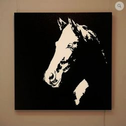 Horse illuminated wall panel